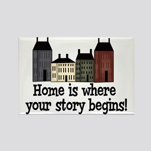 Home Story Rectangle Magnet
