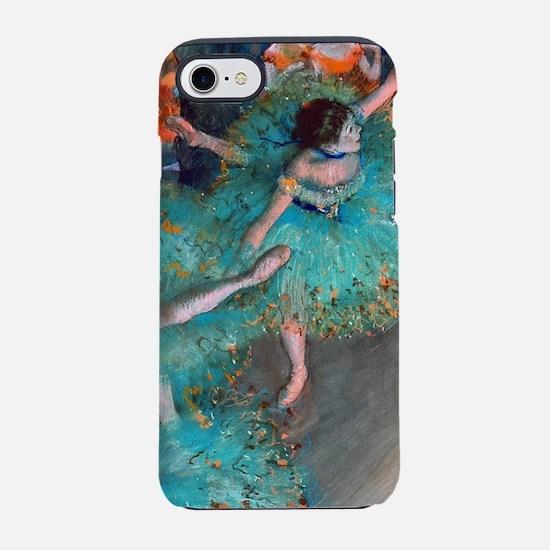 The Green Dancer by Edgar Dega iPhone 7 Tough Case