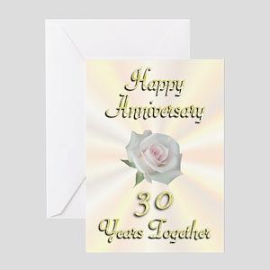 Anniversary 30 Years Greeting Card