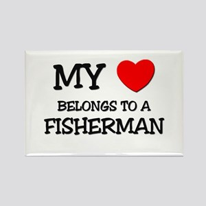 My Heart Belongs To A FISHERMAN Rectangle Magnet