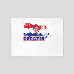 Football Worldcup Croatia Croats Cr 5'x7'Area Rug