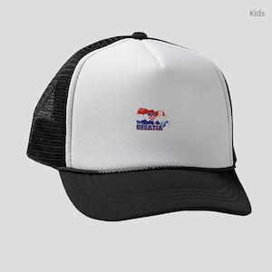 Football Worldcup Croatia Croats Kids Trucker hat