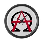 Christain Anarchy Large Wall Clock