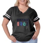 vintage Women's Plus Size Football T-Shirt