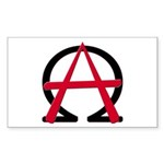 Christain Anarchy 10 Rectangular Stickers
