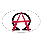 Christain Anarchy 50 Oval Stickers