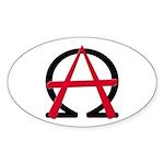Christain Anarchy 10 Oval Sticker