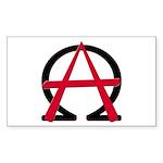 Christain Anarchy Rectangular Sticker