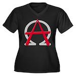 Christain Anarchy Women's Plus Size V-Neck Dark T-
