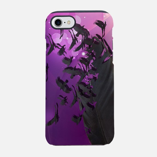 Crow Feather Purple iPhone 7 Tough Case