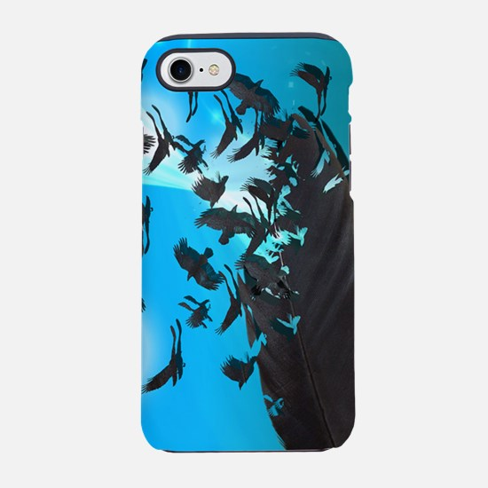 Crow Feather Blue iPhone 7 Tough Case
