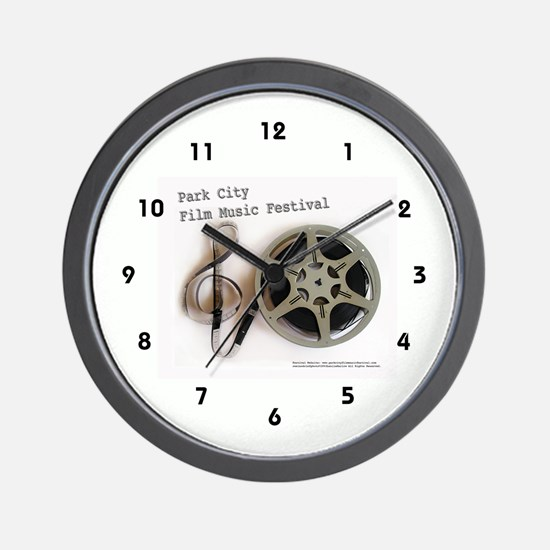Park City Film Music Festival Logo on Wall Clock