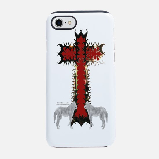 Wolf Cross iPhone 7 Tough Case