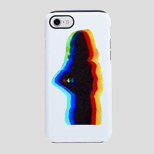 rainbow silhouette black iPhone 7 Tough Case