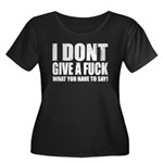 I don't give a fuck... Women's Plus Size Scoop Nec