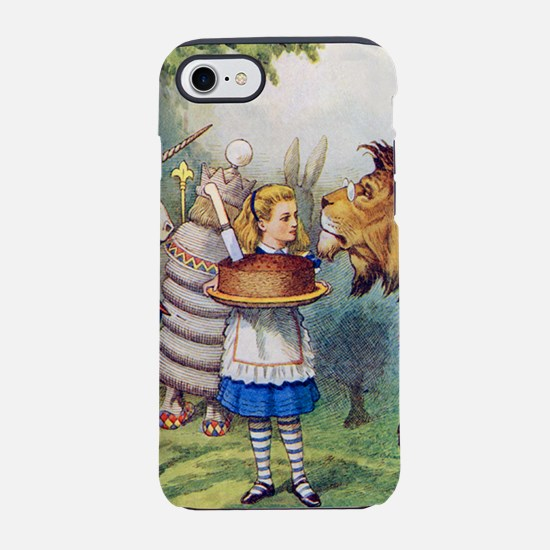 Alice, the lion and the unicor iPhone 7 Tough Case