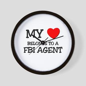My Heart Belongs To A FBI AGENT Wall Clock