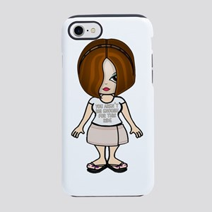arent big enough face white.pn iPhone 7 Tough Case