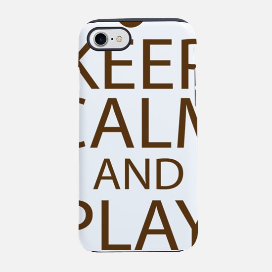 Keep Calm and Play On Baritone iPhone 7 Tough Case