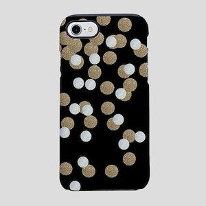 chic glitter gold confetti iPhone 7 Tough Case