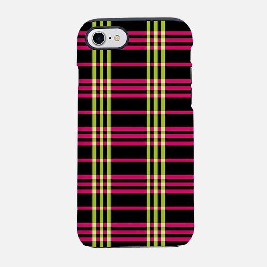 Neon Plaid iPhone 7 Tough Case