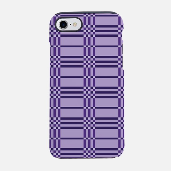 Purple Plaid iPhone 4 Clear.pn iPhone 7 Tough Case