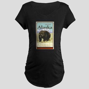 Travel Alaska Maternity Dark T-Shirt