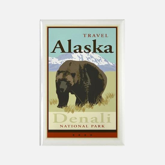 Travel Alaska Rectangle Magnet