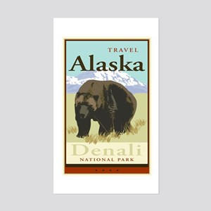 Travel Alaska Rectangle Sticker