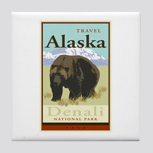 Travel Alaska Tile Coaster