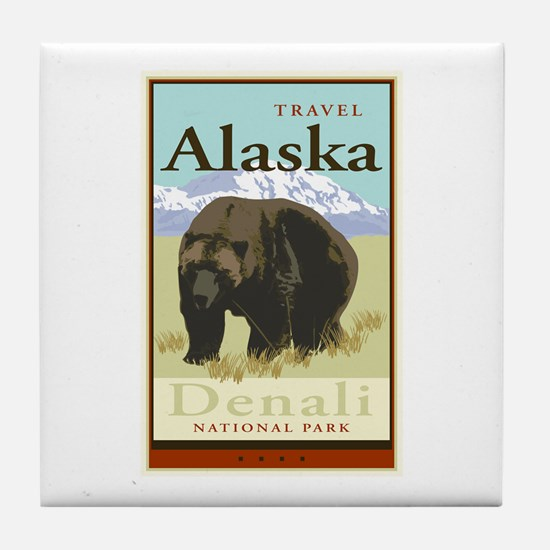 Travel Alaska Tile Coaster