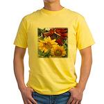Three sunflowers Yellow T-Shirt