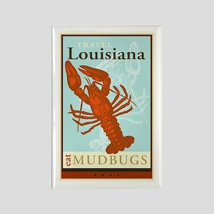 Travel Louisiana Rectangle Magnet