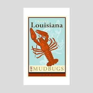 Travel Louisiana Rectangle Sticker