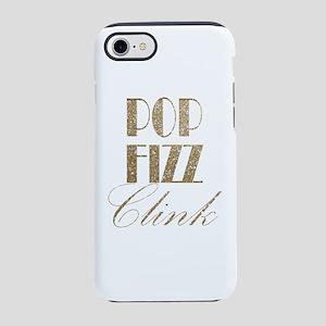 champagne pop fizz clink iPhone 7 Tough Case