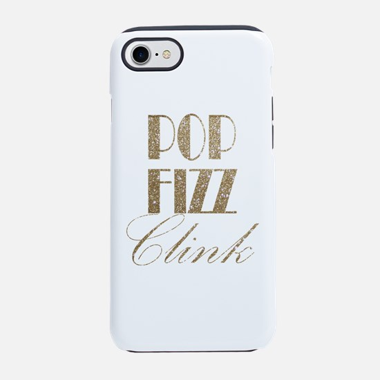 champagne pop fizz clink iPhone 7 Tough Case
