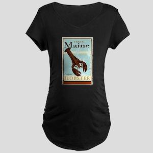 Travel Maine Maternity Dark T-Shirt