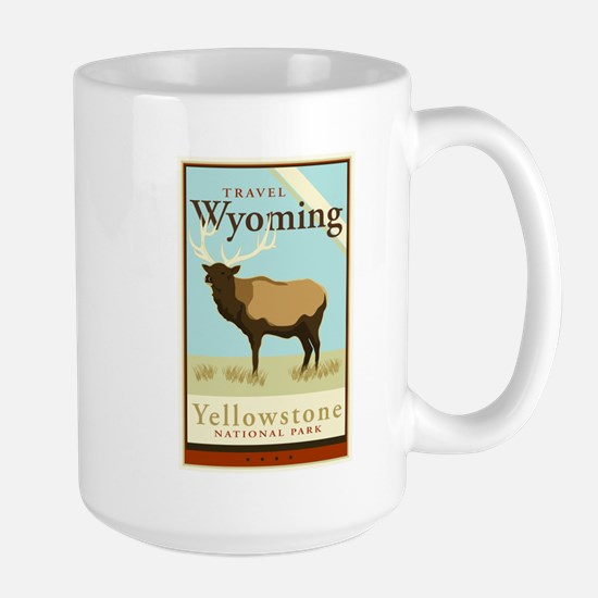 Travel Wyoming Large Mug