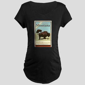 Travel Montana Maternity Dark T-Shirt