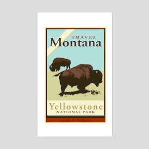 Travel Montana Rectangle Sticker
