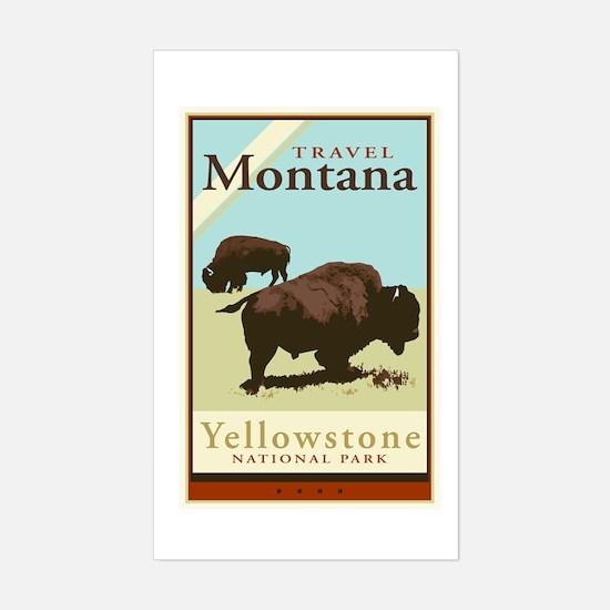 Travel Montana Rectangle Decal