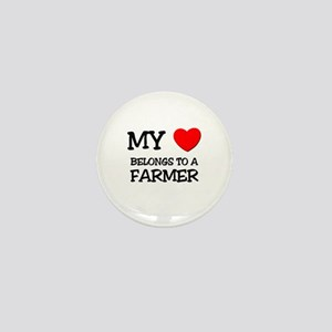 My Heart Belongs To A FARMER Mini Button
