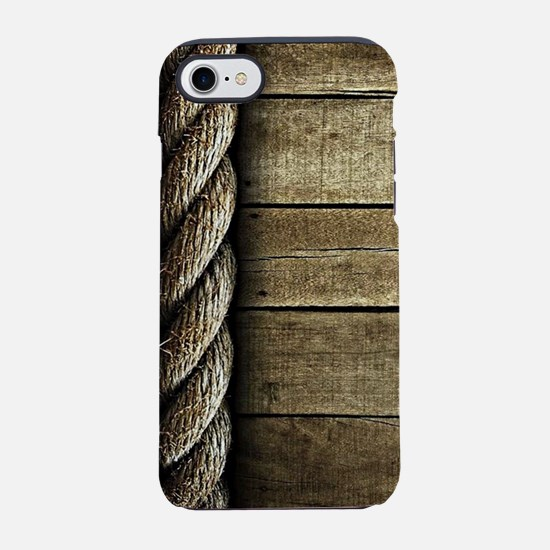 Rope and Wood Texture iPhone 7 Tough Case