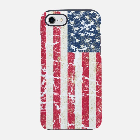US Flag Distressed iPhone 7 Tough Case