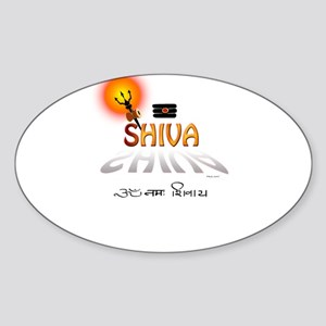 Symbols of Shiva Oval Sticker