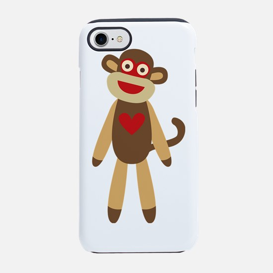 Cute Sock Monkey iPhone 7 Tough Case