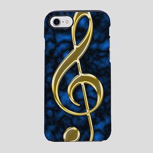 Golden Treble Clef iPhone 7 Tough Case