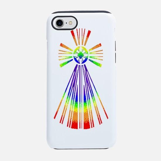 RetroCross_R_2b_White.PNG iPhone 7 Tough Case