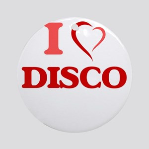 I love Disco Round Ornament