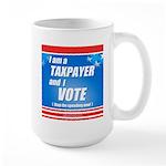 Taxpayer says STOP! Large Mug
